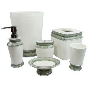green glass bathroom accessories