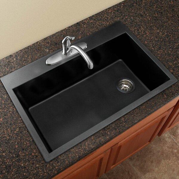 transolid radius 33 x 22 granite single bowl drop in kitchen sink reviews wayfair. Interior Design Ideas. Home Design Ideas