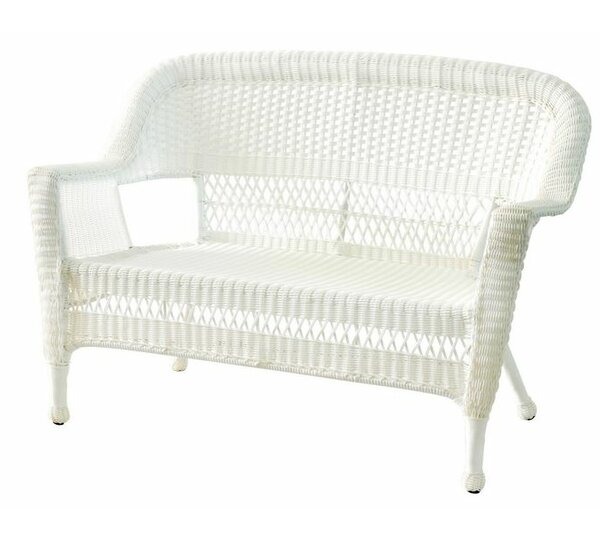 Bayou Breeze Benji Wicker Patio Loveseat U0026 Reviews | Wayfair