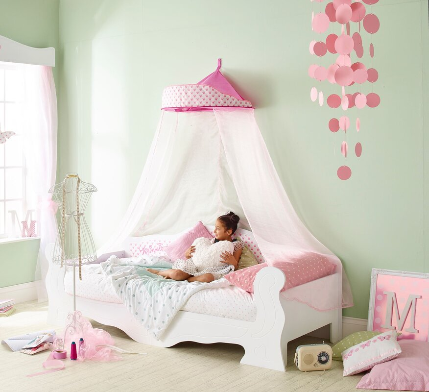 default_name - Hello Home Disney Minnie Mouse Single Canopy Bed & Reviews