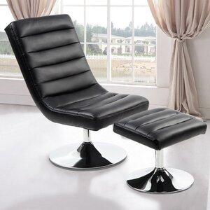 Annie Slipper Chair and Ottoman