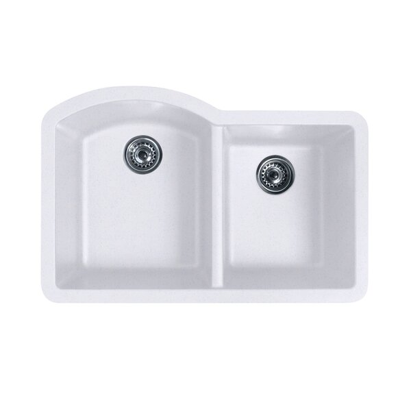 swanstone 32 x 21 double basin undermount kitchen sink reviews wayfair. beautiful ideas. Home Design Ideas