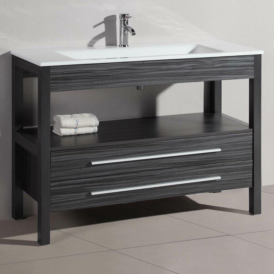 48 single modern bathroom vanity reviews allmodern for All modern bathroom vanity