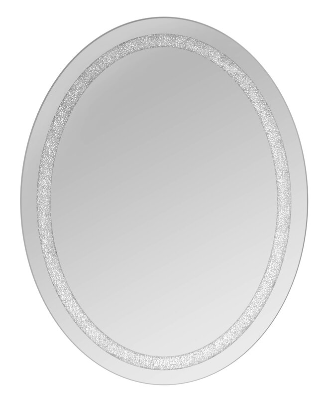 Crystal Wall Mirror michael oval beaded crystal wall mirror & reviews | joss & main