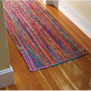 Carnivale Braided Red Area Rug