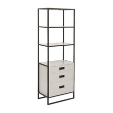 """Metal and Wood 65"""" Standard Bookcase"""