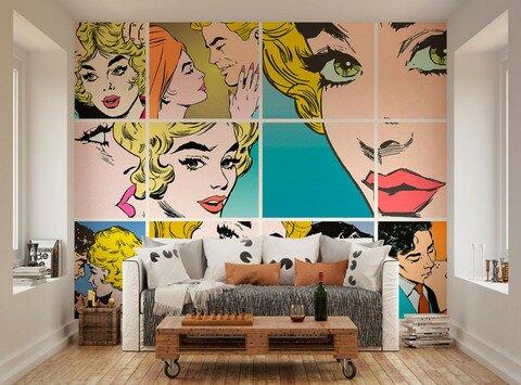 ohpopsi Pop Art Wallpaper Wall Mural | Wayfair.co.uk