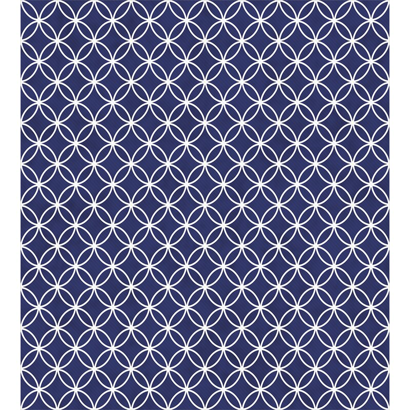 Ambesonne Trellis Inspired Pattern Quatrefoil Circles Moroccan Style Beauteous Moroccan Design Pattern