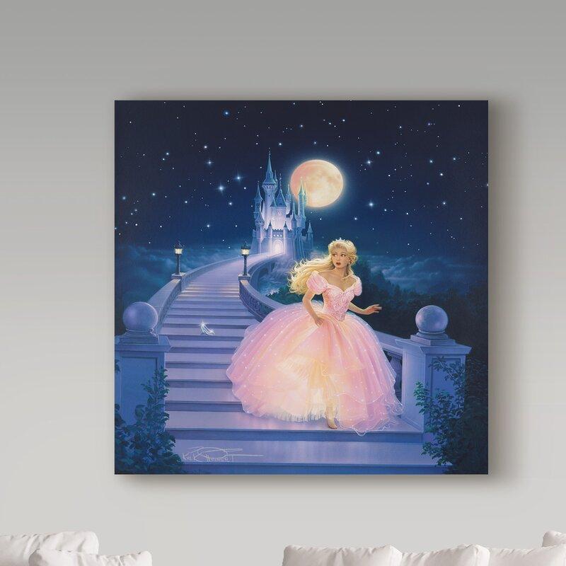 Trademark Art Cinderella Graphic Art Print On Wrapped Canvas Wayfair