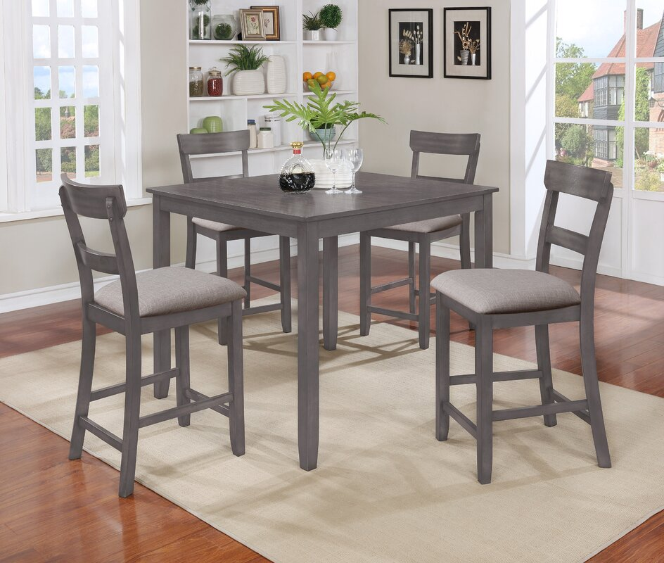 West 5 Piece Counter Height Dining Set