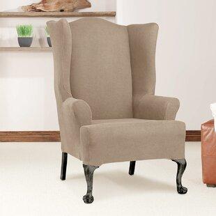 Slip Cover Wingback Chair Wayfair