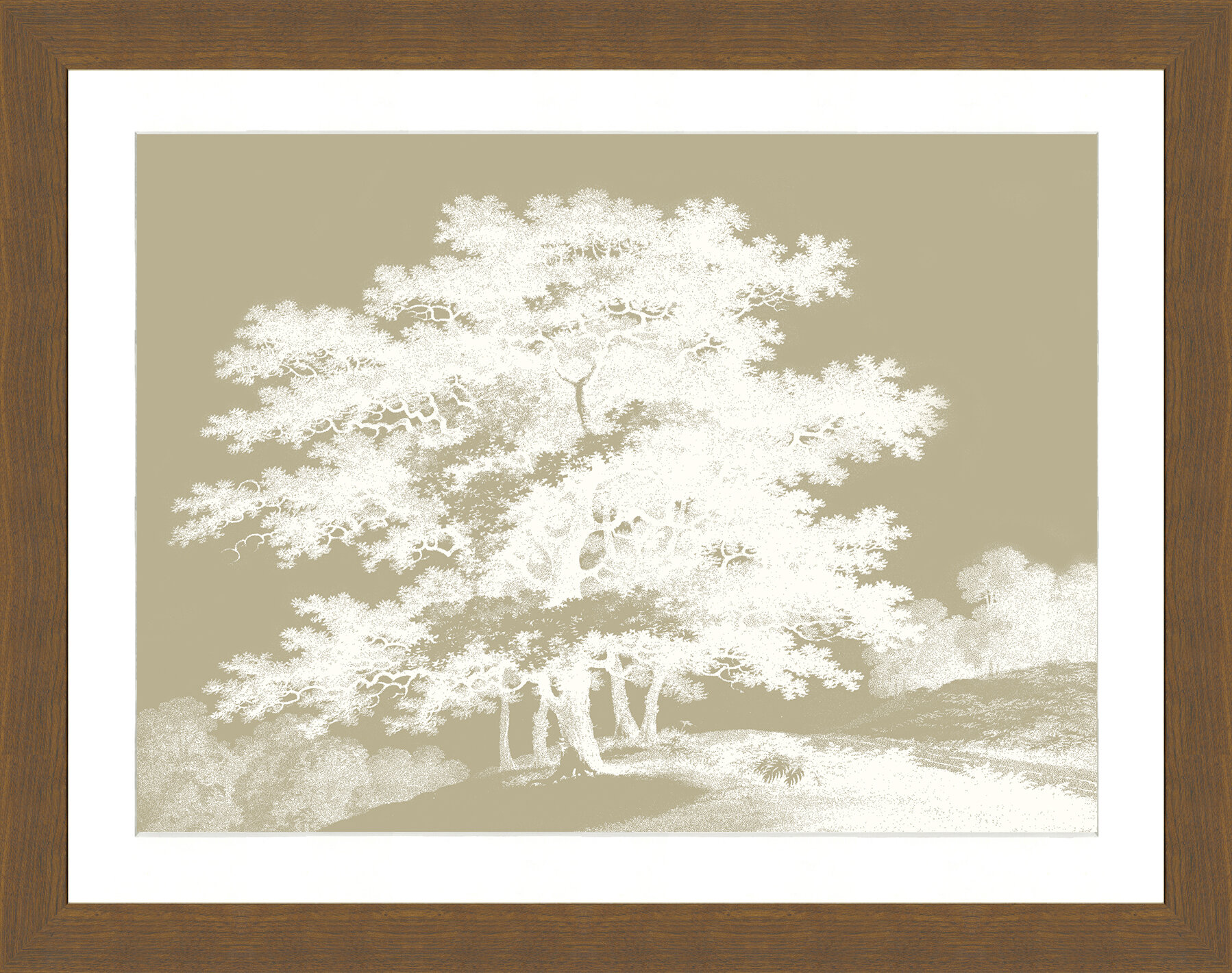 Bloomsbury Market \'Sepia Trees II\' Framed Graphic Art Print | Wayfair
