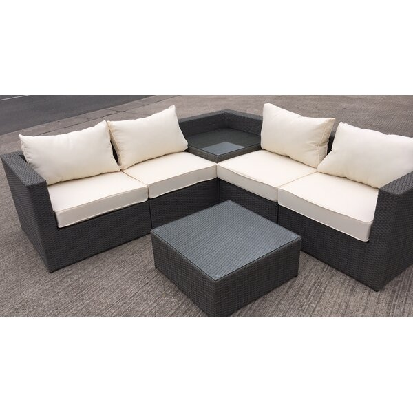 Rattan 5 Seater Sofa Set: All Home Rattan L-Shaped 5 Seater Sectional Sofa Set