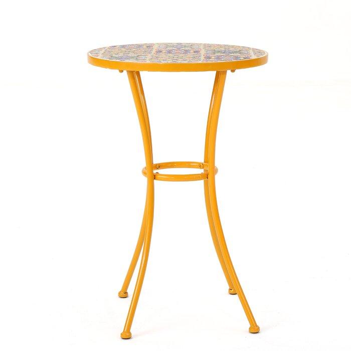 Bungalow Rose Chantel Outdoor Ceramic Tile Side Table Reviews