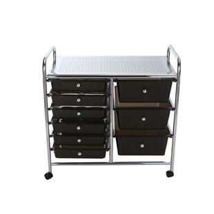 Etonnant Metal Binding 9 Double Drawer Rolling Storage Chest