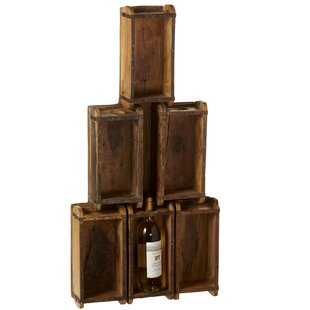 Alanson Repurposed Brick Mold 6 Bottle Floor Wine Rack