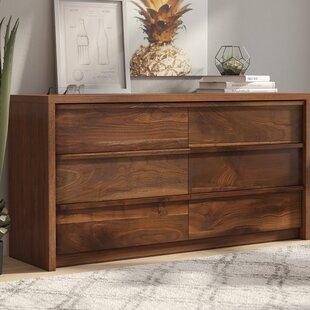 Attractive Posner 6 Drawer Double Dresser