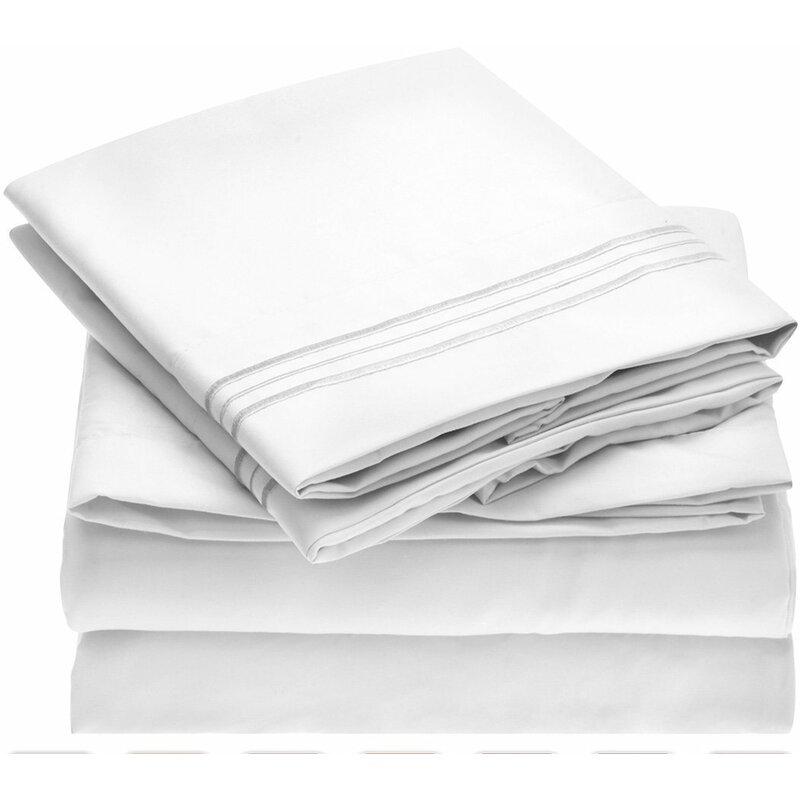 Fine Linens 1800 Thread Count 100 Brushed Microfiber Sheet Set