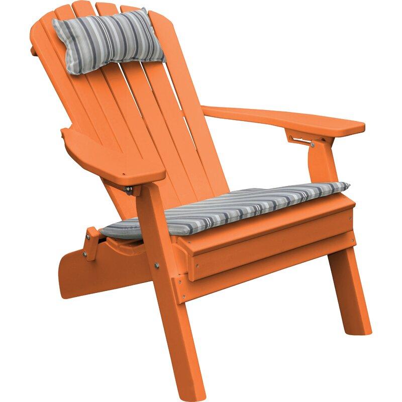 Plastic Folding Adirondack Chair