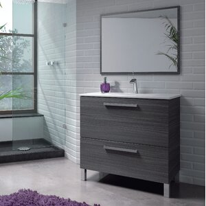 Home Etc 80 cm Wandmontierter Waschtisch Urban mit Spiegel