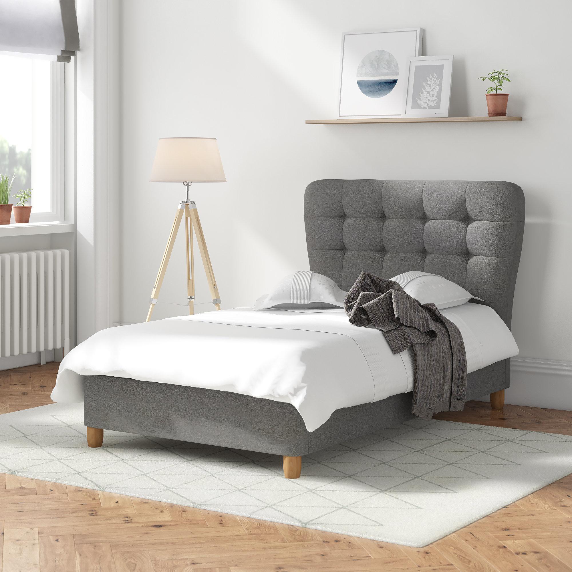 Langley Street Aghavary Upholstered Bed Frame & Reviews | Wayfair.co.uk