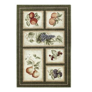 Eden's Bounty Olive Green Area Rug