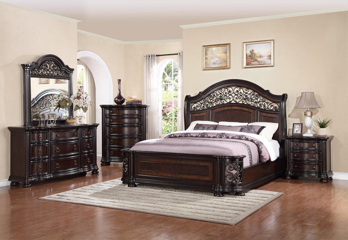 fleur de lis living winkelman king panel 4 piece bedroom. Black Bedroom Furniture Sets. Home Design Ideas