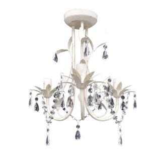 3 arm chandelier wayfair 3 light chandelier mozeypictures Gallery