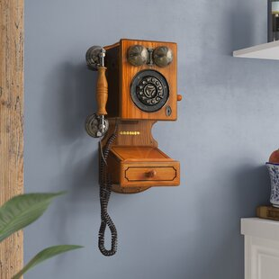 country kitchen wall phone decorative telephones you ll wayfair 6172