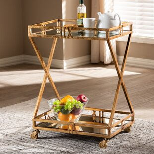 Yerger 2-Tier Mobile Bar Cart