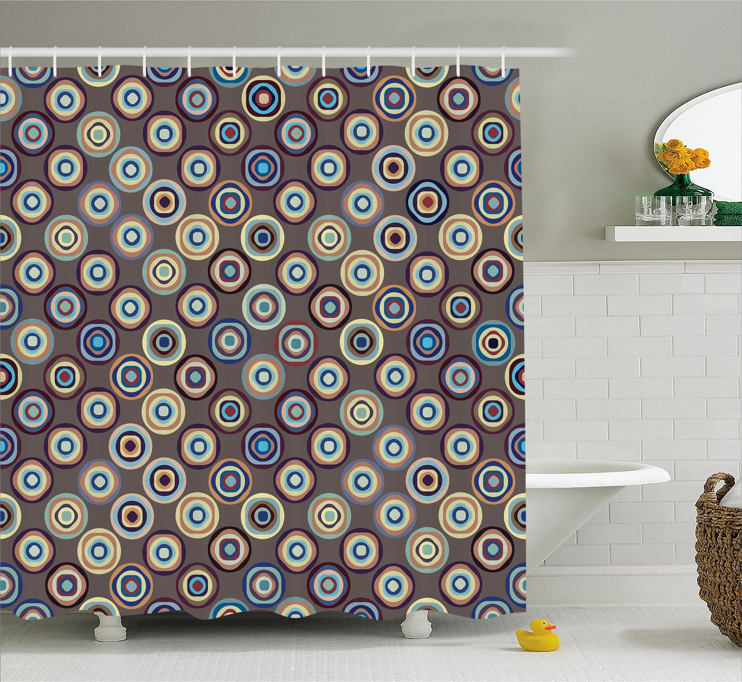 Ebern Designs Burkett Abstract Big Dots Shower Curtain & Reviews ...