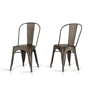 Drummond Rust Metal Dining Chair (Set of 2) (Set of 2) by Laurel Foundry Modern Farmhouse