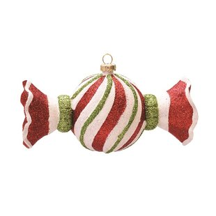 merry and bright swirl shatterproof christmas candy ornament