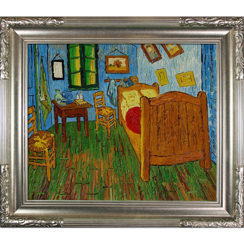 Tori Home Bedroom at Arles by Vincent Van Gogh Framed Painting ...
