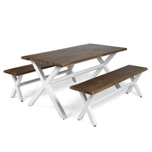 Modern Contemporary Wood Picnic Table With Benches AllModern - Metal wood picnic table