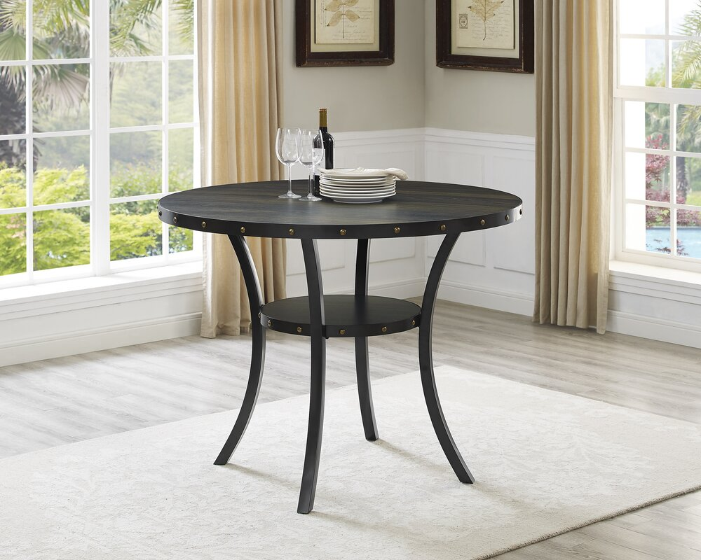 Tasha Round Wood Counter Height Dining Table