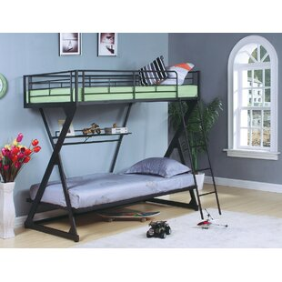 Haverstraw Metal Twin Over Bunk Bed With Bookcase
