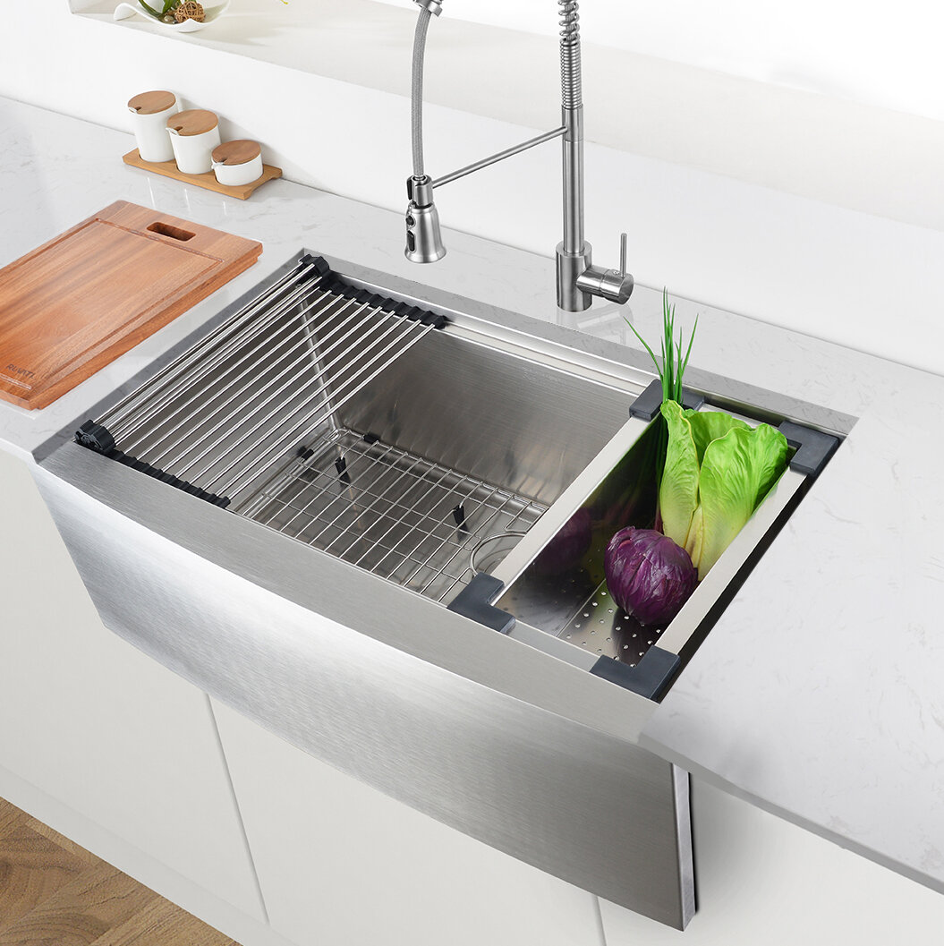 Ruvati Verona Workstation 30 L X 23 W Farmhouse Kitchen Sink
