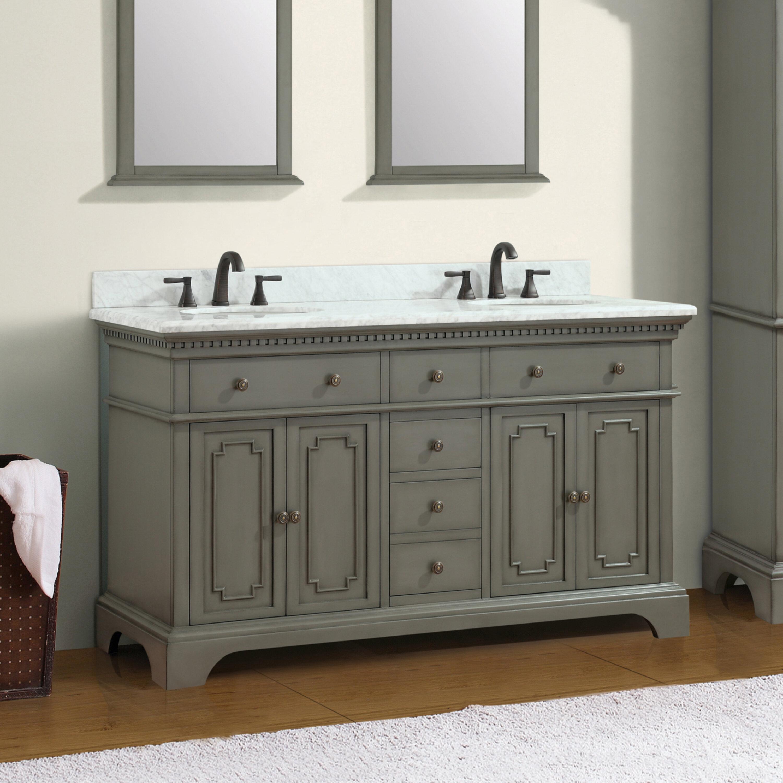 Ruthann marble top 73 double bathroom vanity set reviews wayfair