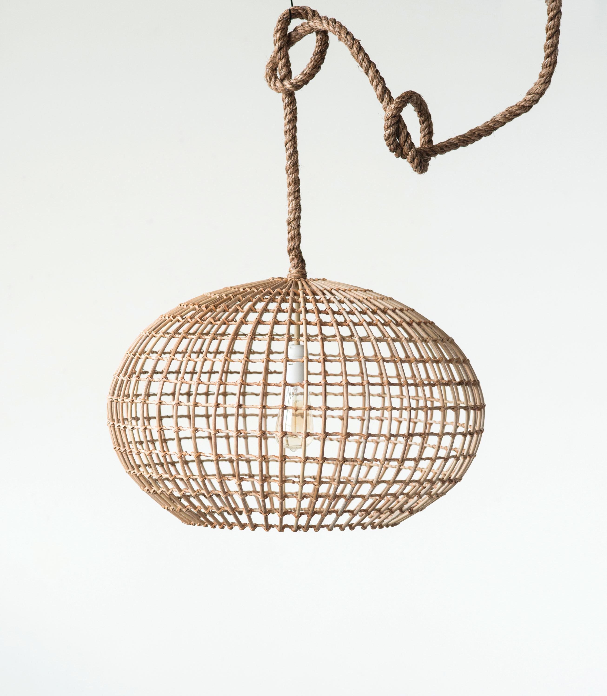 Jelinek round wicker 1 light globe pendant