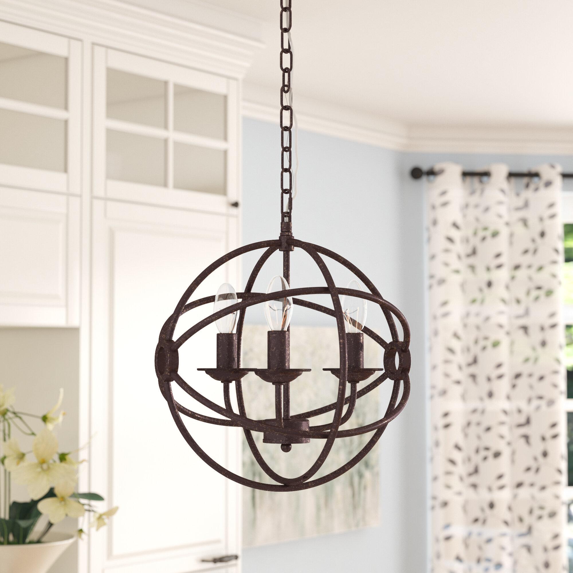 Gracie Oaks Wheatland 3 Light Pendant U0026 Reviews | Wayfair