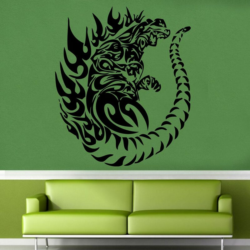 kult kanvas godzilla tribal tattoo style decal vinyl wall sticker