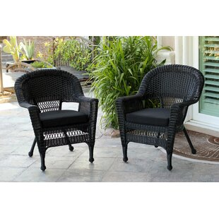Bon Burrowes Wicker Chair With Cushion (Set Of 2)