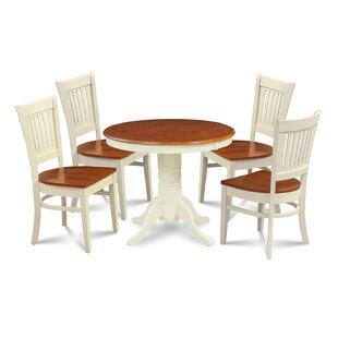 Reichert 5 Piece Solid Wood Dining Set