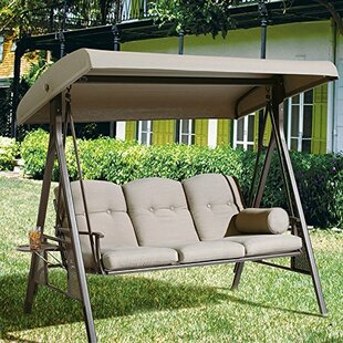 Rohrbaugh 3 Seat Outdoor Porch Swing With Stand