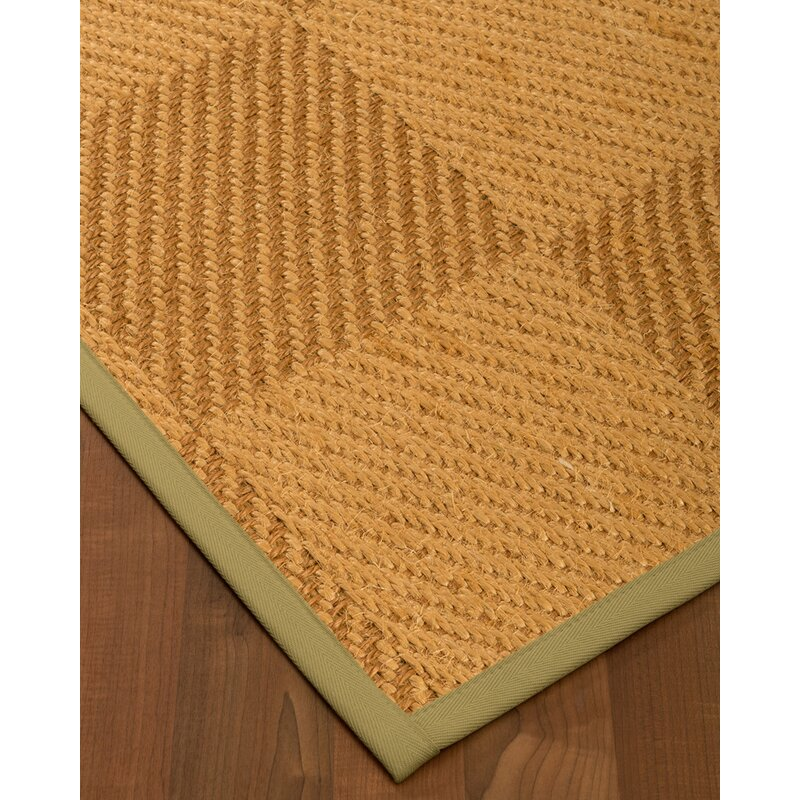 August Grove Escalera Hand-Woven Jute/Sisal  Beige/Brown Area Rug, Size: Rectangle 6 x 9