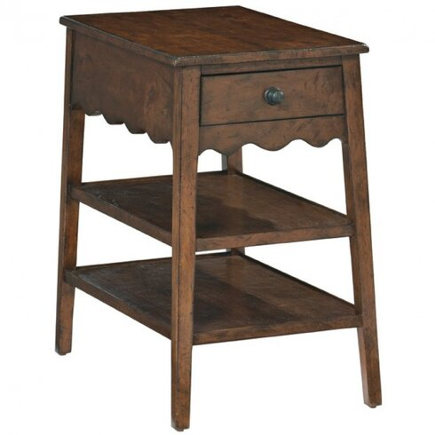 Vintage Patina End Table With Storage