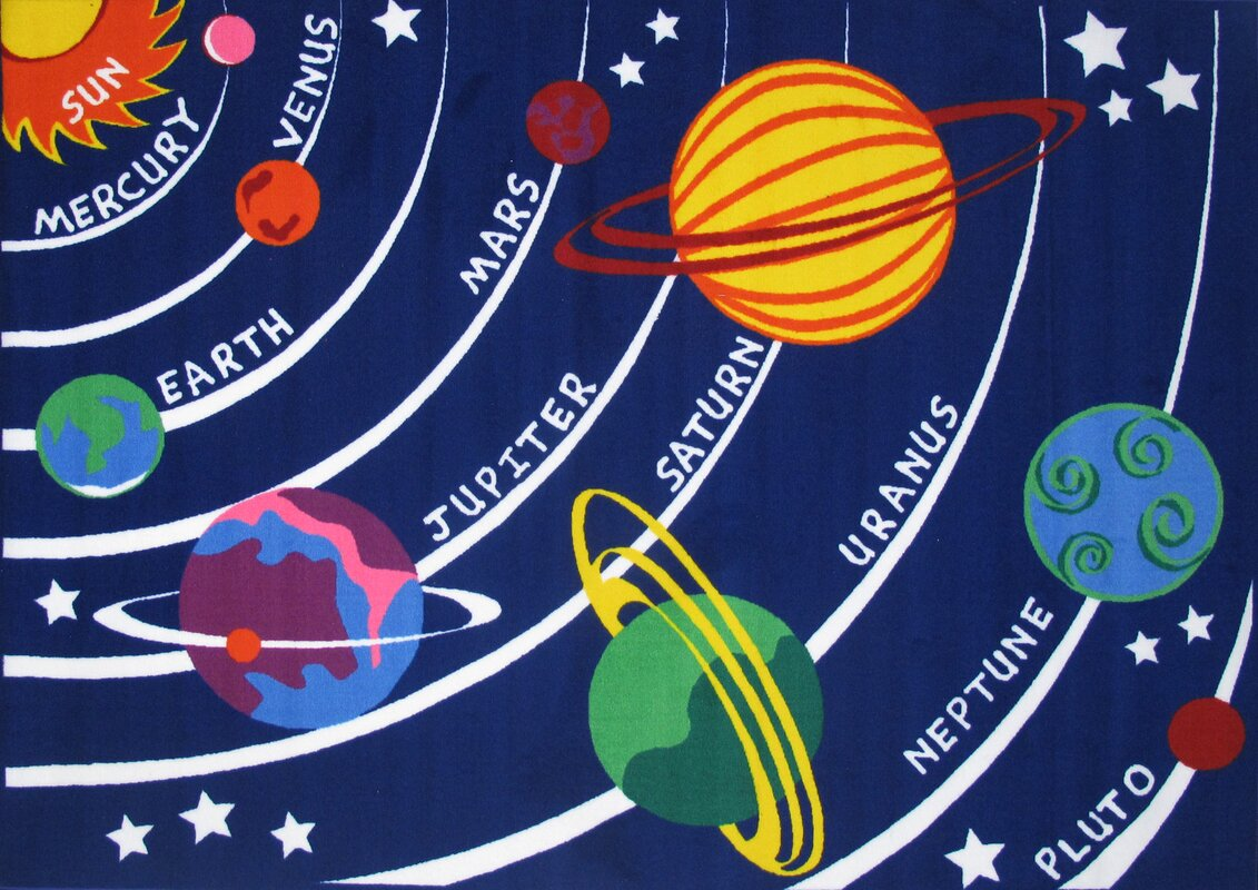 Fun Rugs Fun Time Solar System Kids Rug Amp Reviews Wayfair
