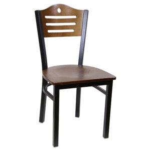 Slat Metal Dining Chair (Set of 2) by H&D Restaurant Supply, Inc.