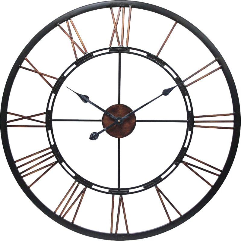 August grove drew oversized metal wall clock reviews Oversized metal wall clocks